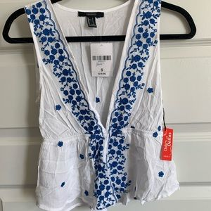 Forever 21 floral tank blouse size S